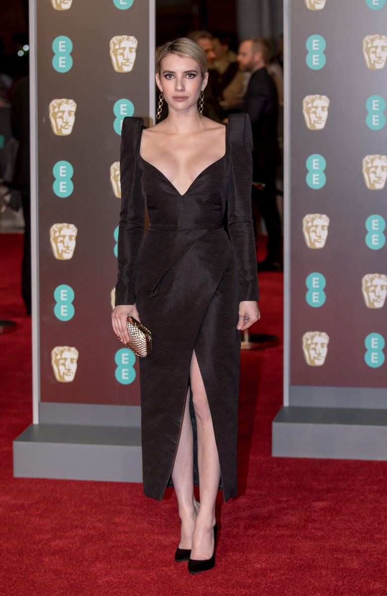 Emma Roberts arrives at the EE British Academy Film Awards, Bafta Awards, at the Royal Albert Hall in London, England, Great Britain, on 18 February 2018. - NO WIRE SERVICE - Photo: Hubert Boesl/Hubert Boesl/dpaWhere: London, England, United KingdomWhen: 19 Feb 2018Credit: Hubert Boesl/picture-alliance/Cover Images