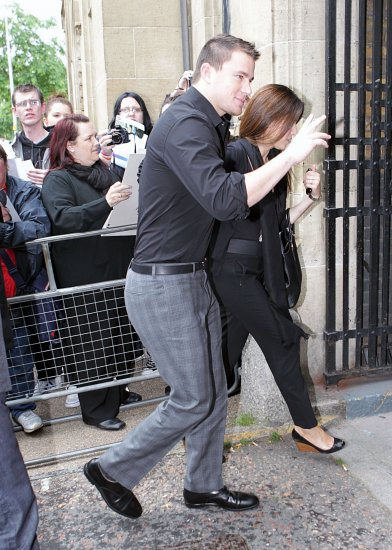 Channing Tatum a Londres pour la promo de Magic Mike