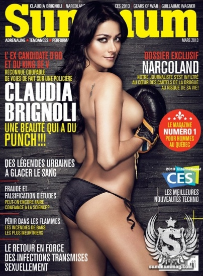Claudia Brignoli sur le cover du Summum