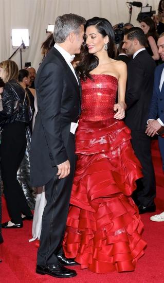 George et Amal Clooney au MET Gala 2015