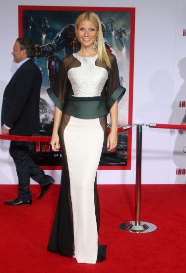 Gwyneth Paltrow sans bobettes a la premiere de Iron Man 3