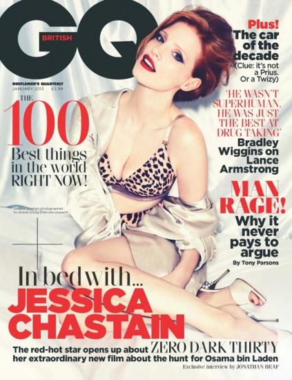 Jessica Chastain est magnifique sur le cover du GQ UK