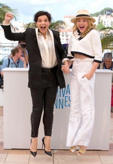 Juliette Binoche et Chloe Moretz à Cannes pour le film Clouds of Sils Maria