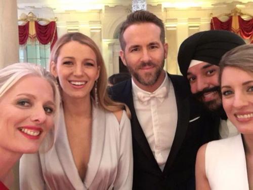 Justin Trudeau a la Maison Blanche Barack Obama Ryan Reynolds et Melanie Joly au souper d Etat
