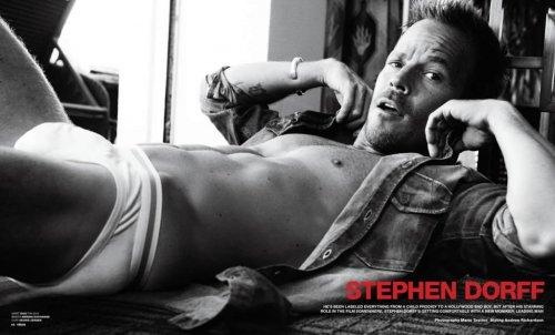 Le beau mec du jour: Stephen Dorff pour le VMAN Magazine
