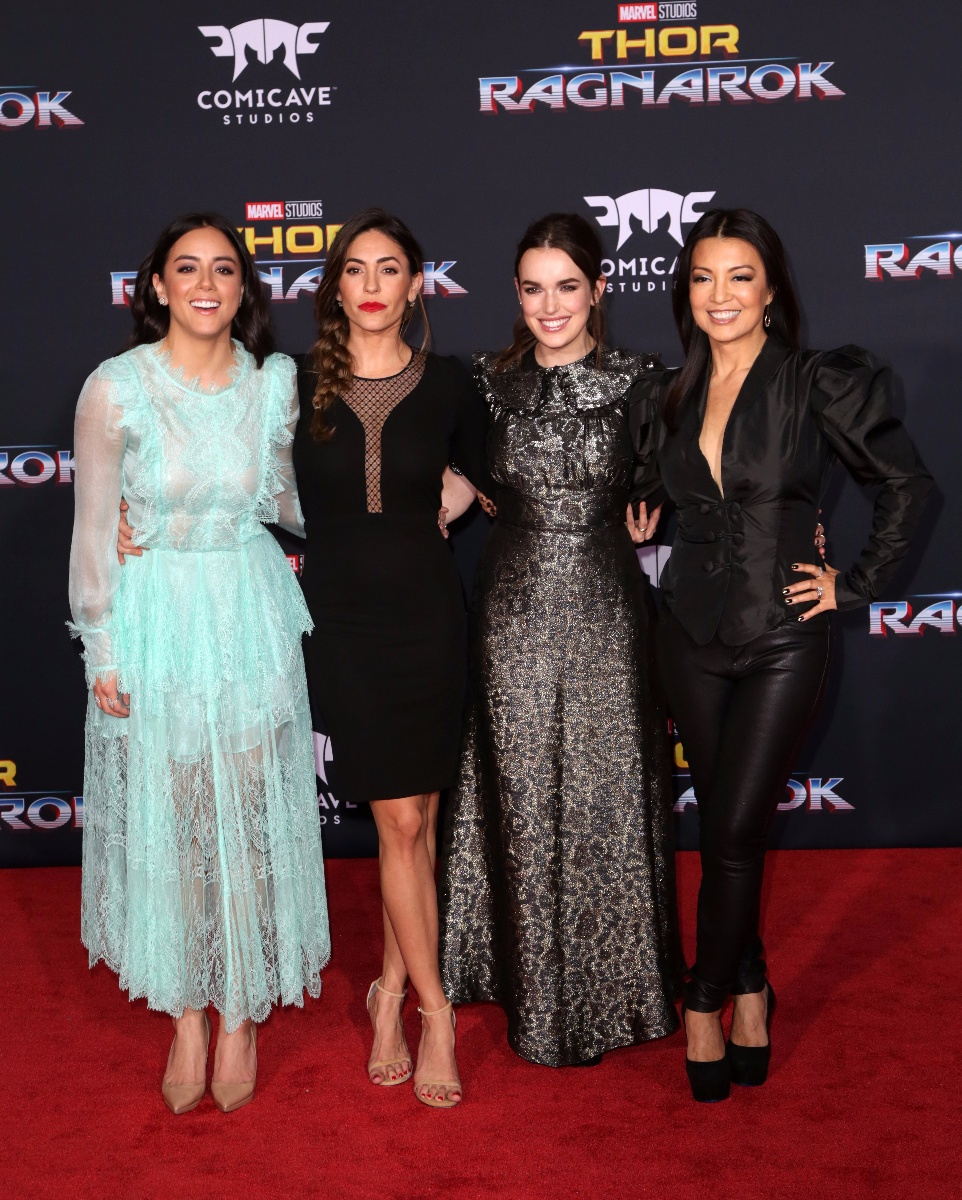 Celebrities attend \'Thor: Ragnarok\' Film Premiere at El Capitan Theatre in Hollywood.Featuring: Chloe Bennet, Natalia Cordova-Buckley, Elizabeth Henstridge, Ming-Na WenWhere: Los Angeles, California, United StatesWhen: 10 Oct 2017Credit: Brian To/WENN.com