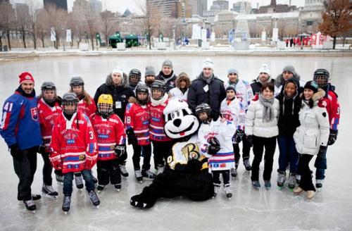 Mathieu Darche et etienne Boulay a la patinoire du Vieux Port de Montreal Spotted