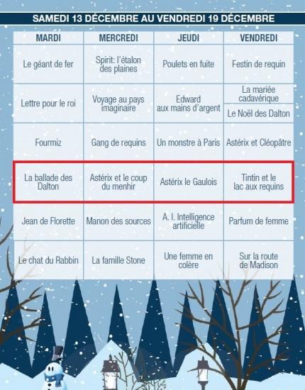 Toute la programmation de Cine cadeau 2014 a Tele Quebec