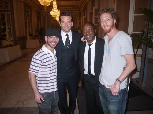 Herby Moreau aux côtés de Bradley Cooper dans le film The Words!!