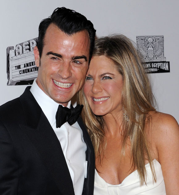 Jennifer Aniston et Justin Theroux en amour aux American Cinematheque Awards
