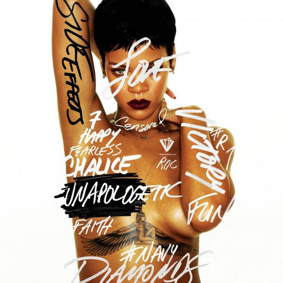 Rihanna est nue sur la photo originale de la pochette Unapologetic