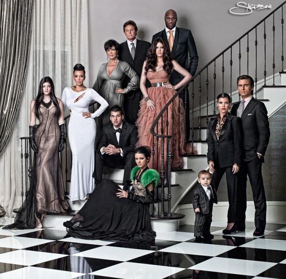 La traditionnelle carte de Noël de la famille Kardashian