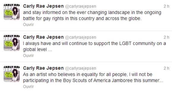 Carly Rae Jepsen annule un concert pour dénoncer l'homophobie