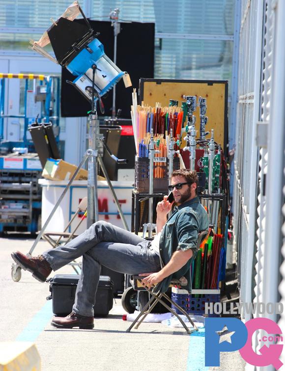 Hugh Jackman sur le plateau de X-Men: Days of Futur Past à Montréal - SPOTTED