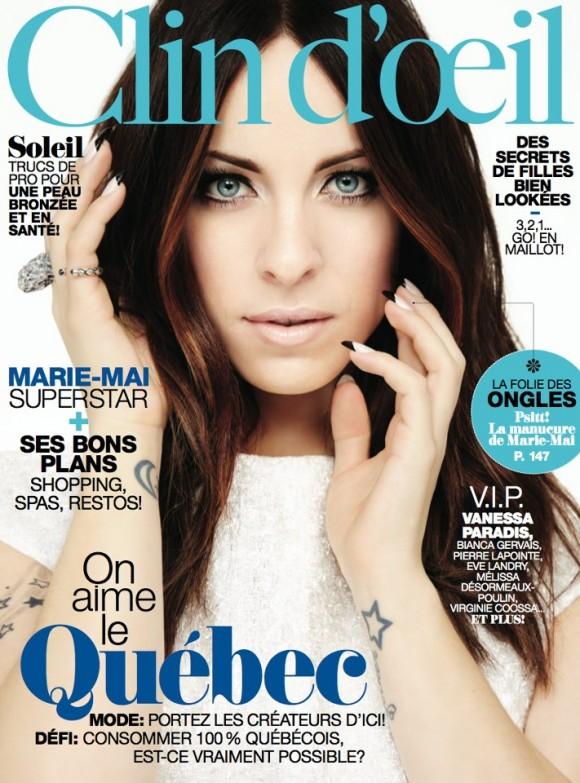 Marie-Mai sur la couverture du Clin D'Oeil