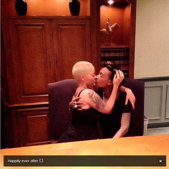 Wiz Khalifa et Amber Rose se sont mariés en secret