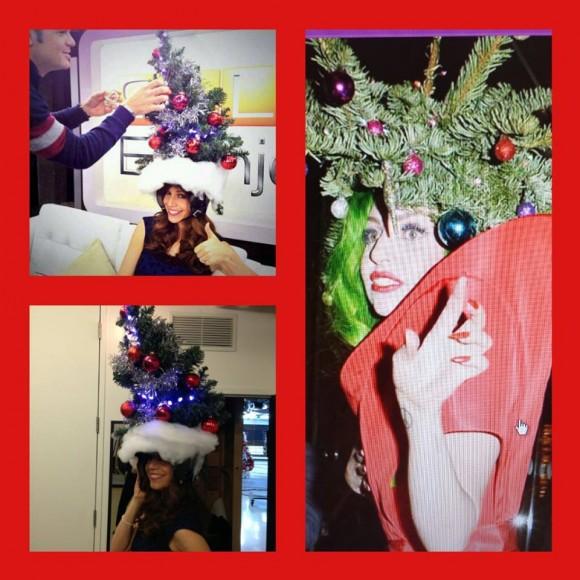 Marie-Christine Proulx reproduit le look sapin de Noël de Lady Gaga