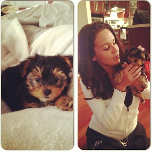 Kaled d'Occupation Double offre un chien à Cintia pour Noël