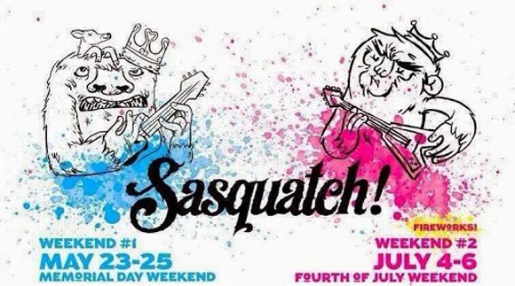 Sasquatch! 2014 - La programmation du festival est dévoilée