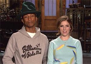 Pharrell Williams et Anna Kendrick à Saturday Night Live