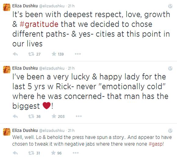 Eliza Dushku et Rick Fox sont séparés2