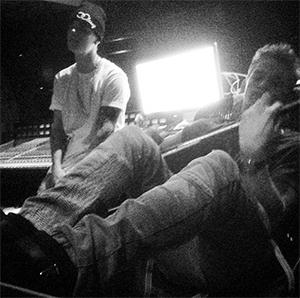 Justin Bieber et Cody Simpson en studio ensemble