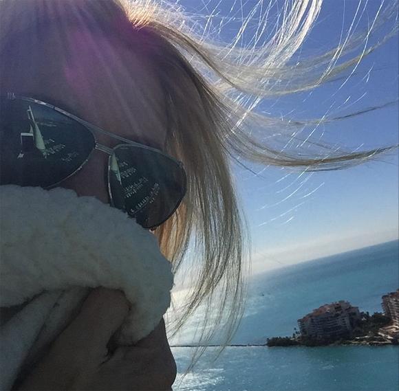 Caroline Néron en voyage à Miami