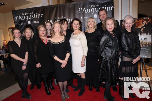 Première de La passion d'Augustine avec Céline Bonnier