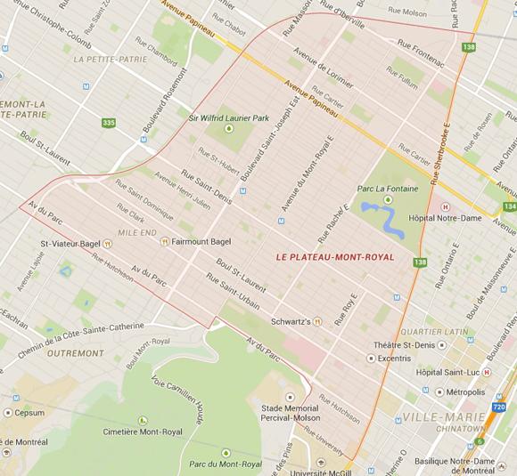 Les quartiers montréalais où l'on retrouve le plus de stars