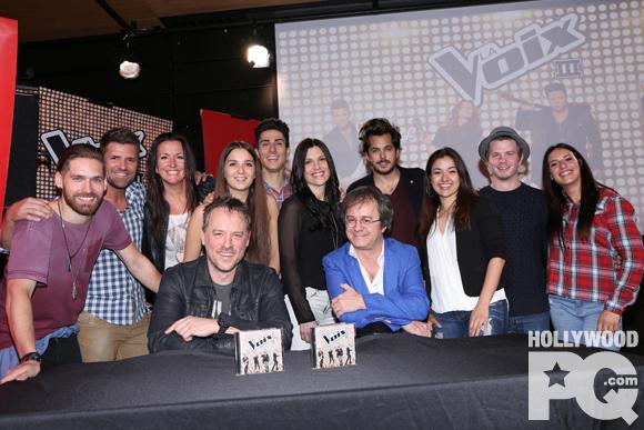 La Voix lancement d'album