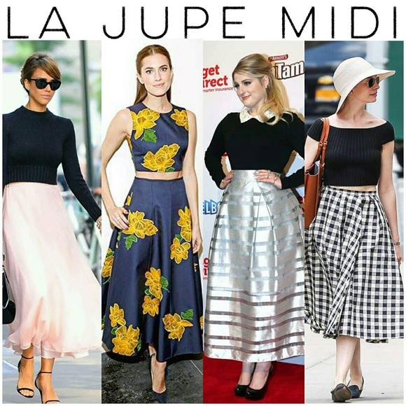 Style De Star Dix Raisons De Porter La Jupe Midi Hollywoodpq Com