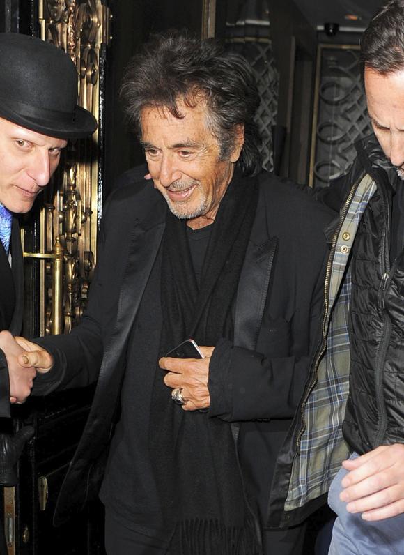 Al Pacino Enjoys Dinner In London
