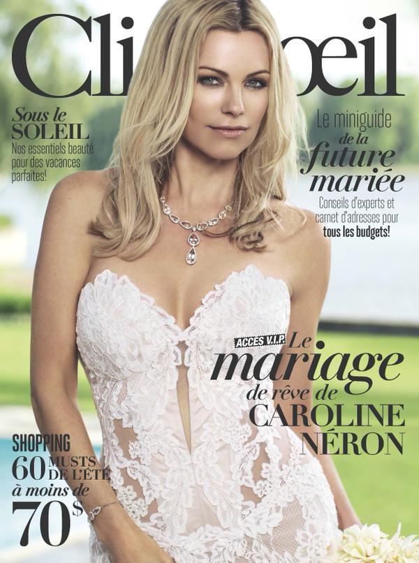 La robe de mariée de Caroline Néron