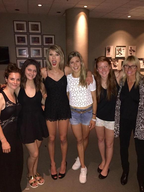 Eugenie Bouchard rencontre Taylor Swift