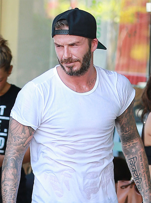 Le nouveau tatouage de David Beckham en l'honneur de sa femme