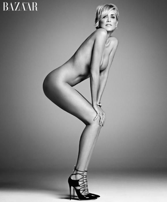 Sharon Stone pose nue à 57 ans.