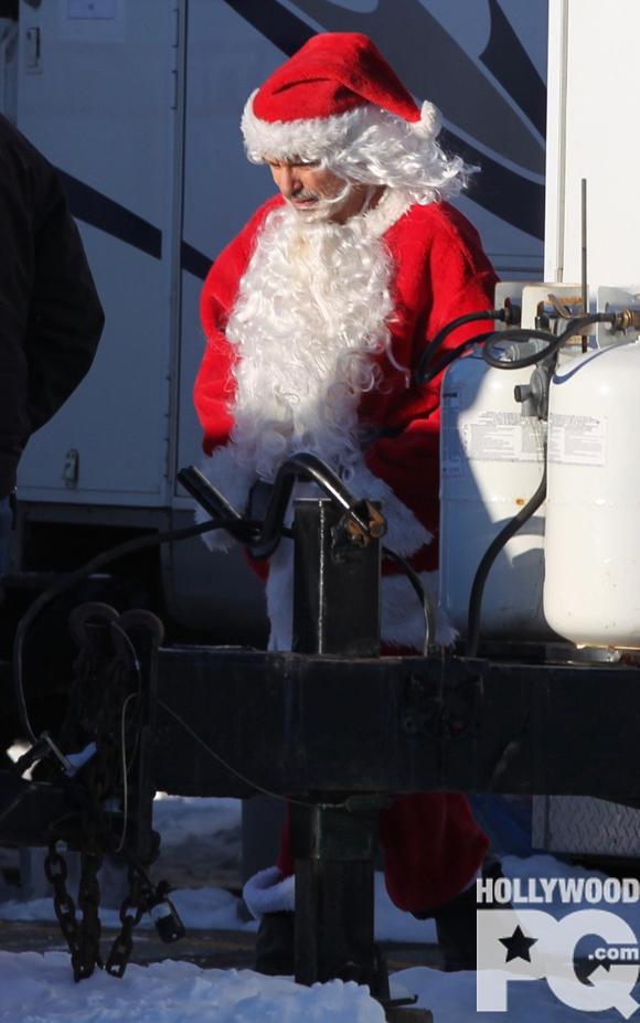 Billy Bob Thornton en tournage pour Bad Santa 2 - SPOTTED