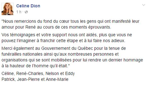 Céline Dion se confie pour la première fois après la mort de René Angélil