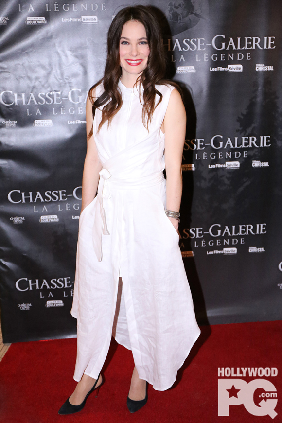 Caroline Dhavernas première tapis rouge Chasse Galerie