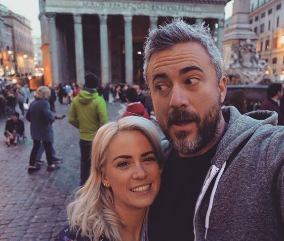 Valérie Roberts et Martin Juneau en lune de miel en Italie