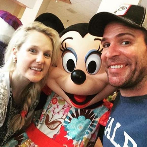 Marie Soleil Dion à Walt Disney avec son amoureux