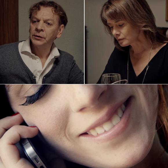 Marc Labrèche, Isabel Richer et Hugo Dubé dans le vidéoclip Veuve noire de Rod le Stod