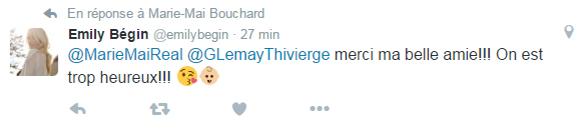 Guillaume Lemay-Thivierge et Émily Bégin seront parents