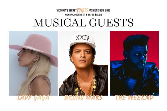 Lady Gaga, Bruno Mars et The Weeknd au Victoria's Secret Fashion Sho