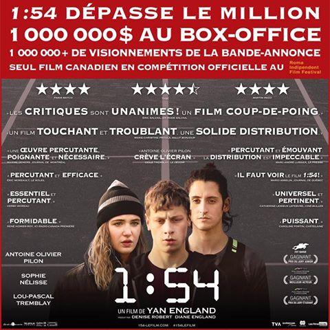 Le film 1:54 atteint le million au box-office.