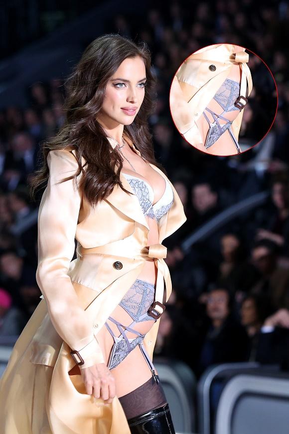 Irina Shayk Shows An Apparent Baby Bump As She Walks For The Victoria Secret Fashion Show