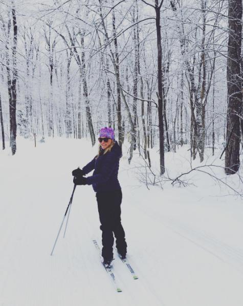 Émily Bégin en ski de fond à 37 semaines de grossesse