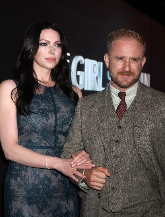 Laura Prepon & Ben Foster Show Off Her Engagement Ring At 'The Girl On The Train' Premiere