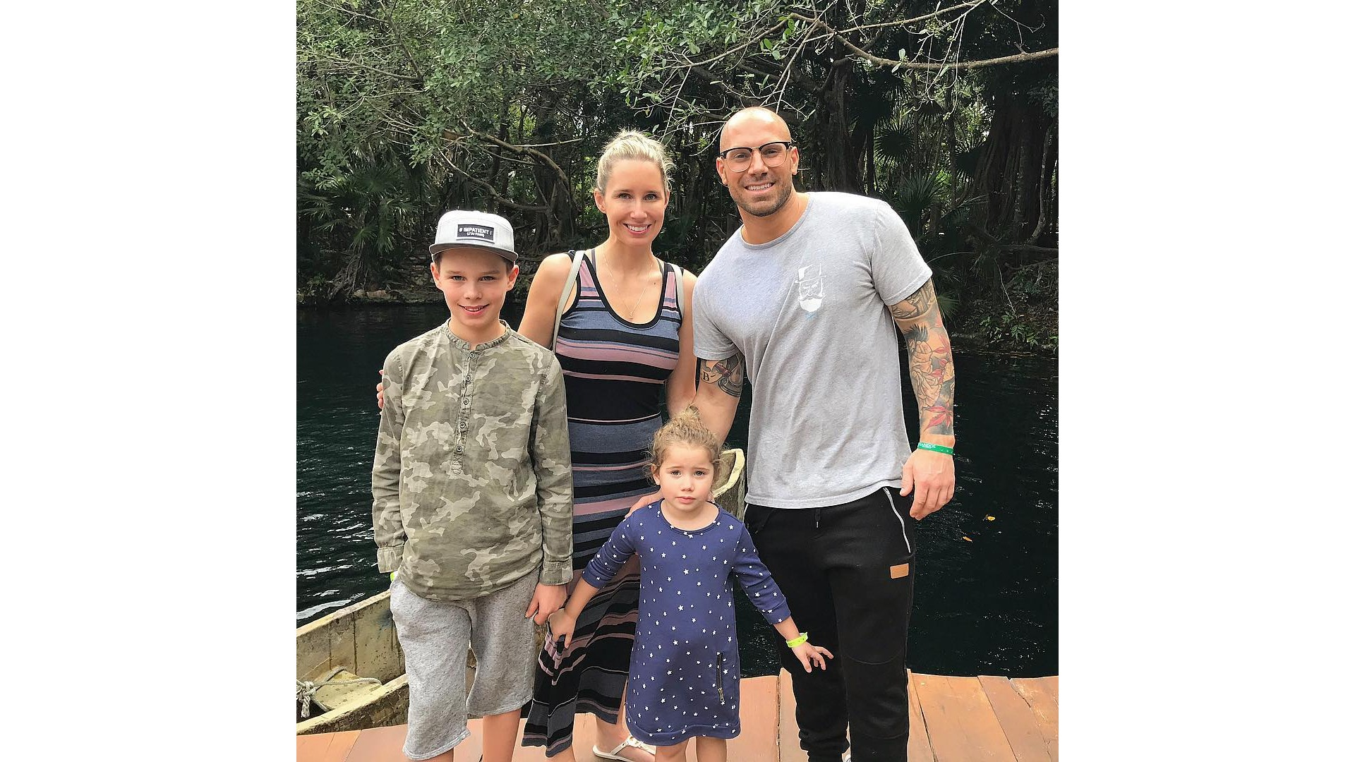 Maïka, son fils Hayden, Étienne et leur fille Anna