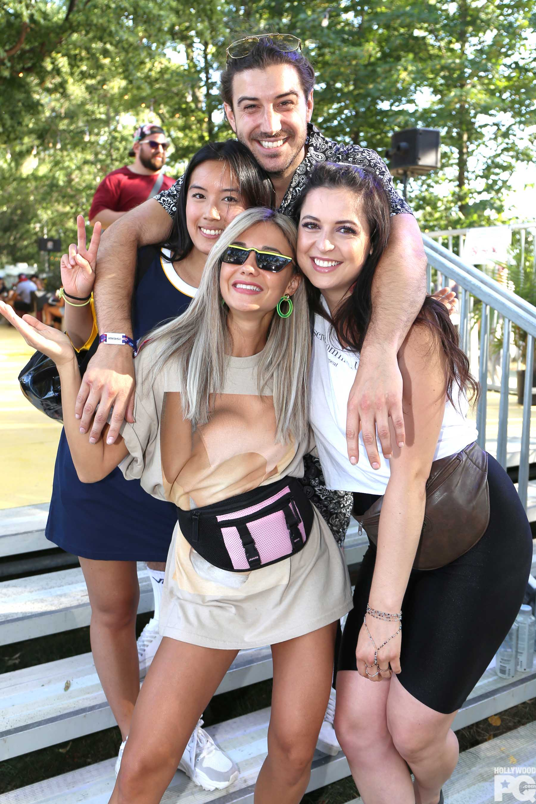 Adamo, sa blonde, Alexandra Stellini et Karine St-Michel